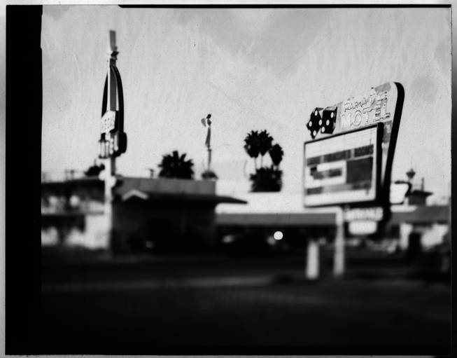 Motel signs on East Fremont Street.