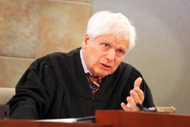 Judge Joe Bonaventure speaks as Brenda Stokes appears in Las Vegas Justice Court for a hearing at the Regional Justice Center on Friday, December 28, 2012.