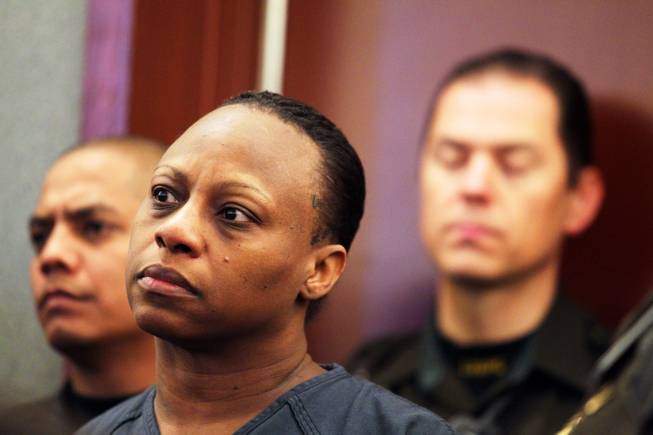 Brenda Stokes appears in Las Vegas Justice Court for a hearing at the Regional Justice Center on Friday, December 28, 2012.