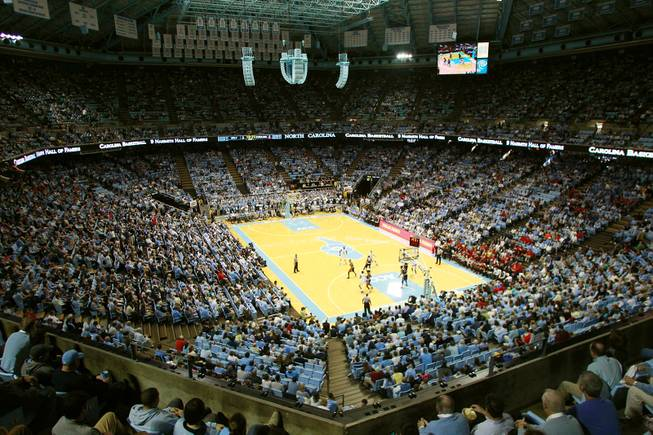 UNLV takes on North Carolina during their game Saturday, Dec. 29, 2012 at the Dean Smith Center in Chapel Hill, N.C.