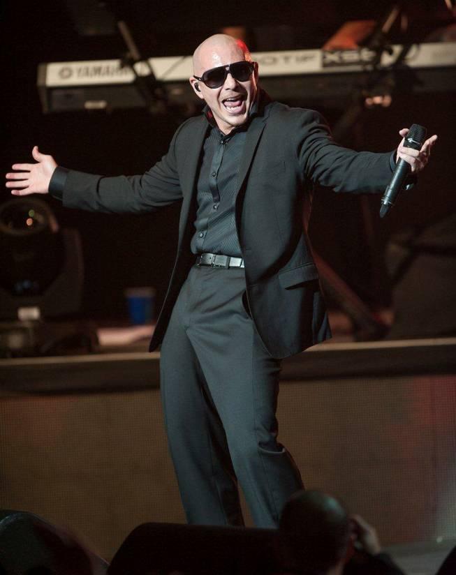Pitbull performs at the Pearl in the Palms on Friday, Dec. 28, 2012.