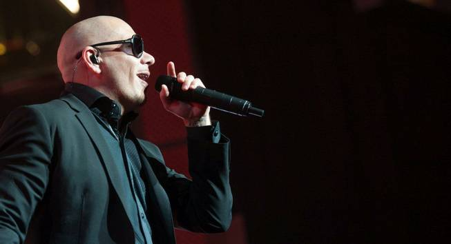 Pitbull performs at the Pearl in the Palms on Friday, ...