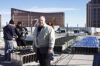 Felix Grucci Jr., who recently handed over ownership of Fireworks by Grucci to a nephew, poses for a picture on the Treasure Island rooftop where the technician crew finishes preparations for the New Year's Eve 2012 fireworks show, Monday, Dec. 31.