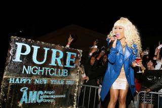 Nicki Minaj hosts the New Year's Eve soiree at Pure in Caesars Palace on Monday, Dec. 31, 2012.