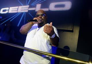 CeeLo Green at Chateau Nightclub in the Paris on Sunday, Dec. 30, 2012.
