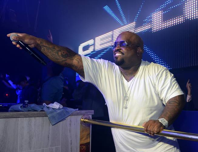CeeLo Green at Chateau Nightclub in the Paris on Sunday, ...