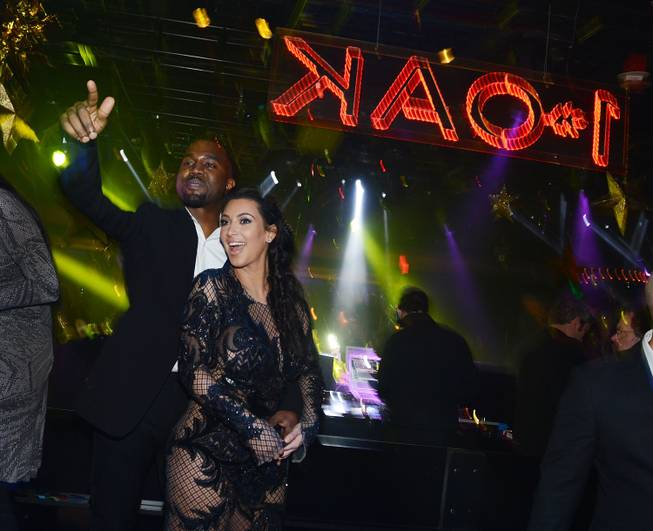 Kanye West and Kim Kardashian celebrate New Year's Eve at ...