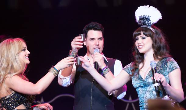 Lacey Schwimmer, Frankie Moreno and Claire Sinclair celebrate the announcement of the show
