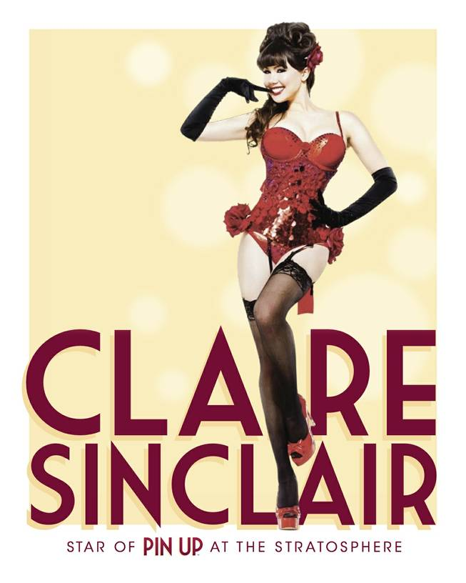 "Claire Sinclair stars in ""Pin Up,"" the new show set for February at Stratosphere."