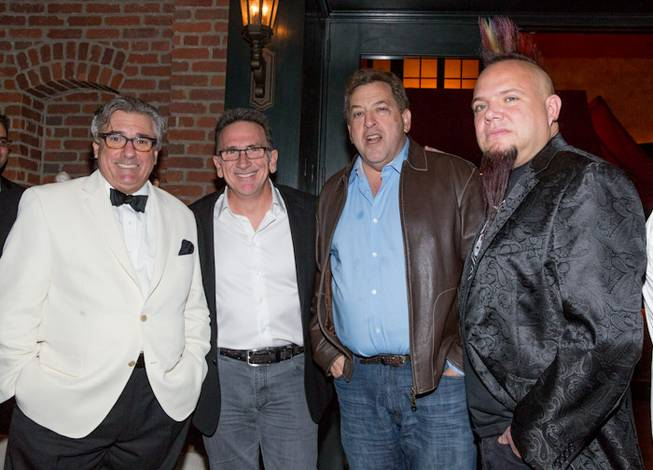 "John Curtas, Rick Moonen, Max Jacobson and Al Mancini attend the 2012 ""Eating Las Vegas"" celebration at Rao's on Tuesday, Dec. 18, 2012, in Caesars Palace."