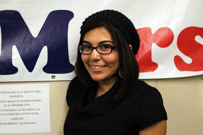 Blanca Gamez, UNLV student, who was brought to Las Vegas by her parents when she was 7 months old from Sonora, Mexico.