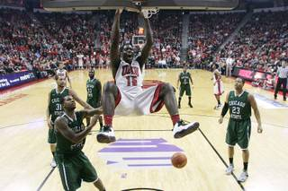 UNLV forward Anthony Bennett dunks on Chicago State during their game Thursday, Jan. 3, 2013 at the Thomas & Mack Center. UNLV won the game 74-52.