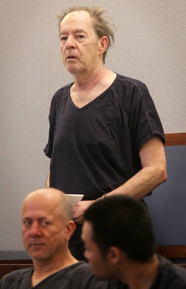 David Settle appears in Las Vegas Justice Court for a hearing at the Regional Justice Center in Las Vegas on Thursday, January 3, 2013.