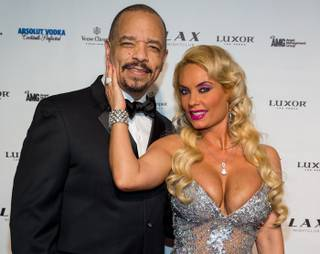 Ice-T and Coco host the New Year's Eve celebration at LAX in the Luxor on Monday, Dec. 31, 2012.