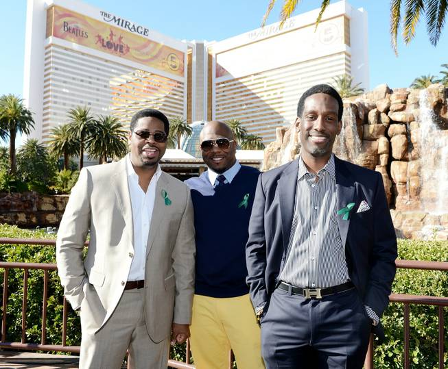 Nathan Morris, Wanya Morris and Shawn Stockman of Boyz II ...