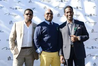 Nathan Morris, Wanya Morris and Shawn Stockman of Boyz II Men announce an extended residency at the Mirage on Thursday, Jan. 3, 2013.