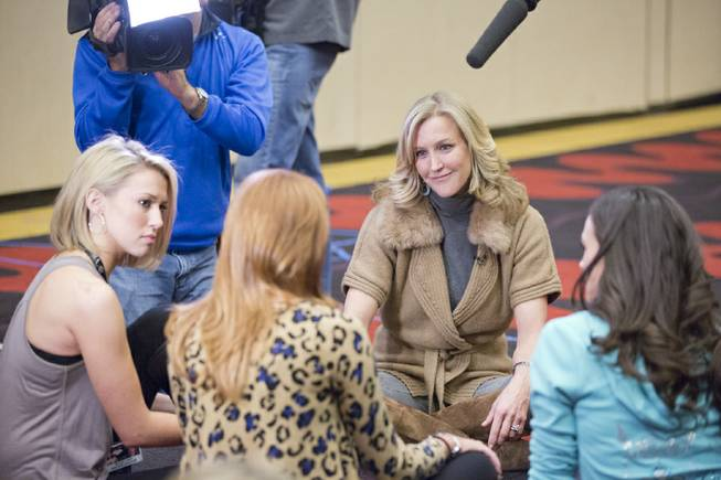 Lara Spencer interviews 2013 Miss America Pageant contestants at Planet ...