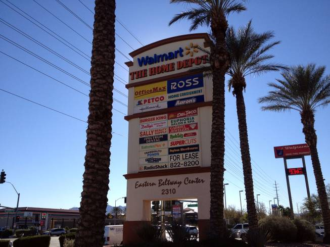 The Eastern Beltway Center, shown here on Friday, Jan. 4, 2013, is one of six shopping centers being sold in a nearly $300 million deal byLas Vegas husband-and-wife developers Terri and Roland Sturm.