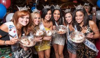 2013 Miss America Pageant contestants at Buca di Beppo in Las Vegas on Saturday, Jan. 5, 2013.