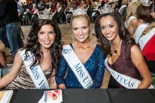 2013 Miss America Pageant contestants at Fashion Show mall in Las Vegas on Saturday, Jan. 5, 2013.