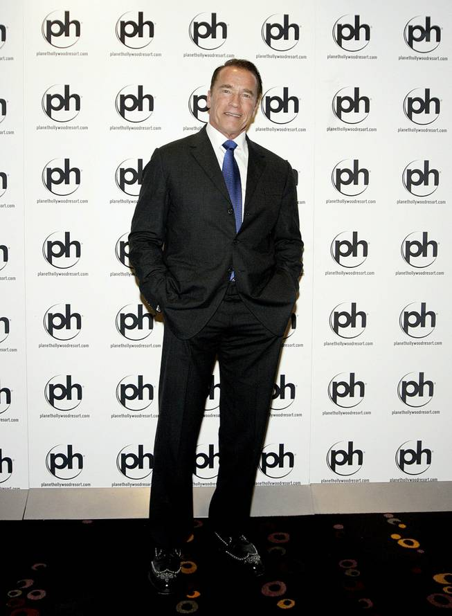 Arnold Schwarzenegger at Planet Hollywood.