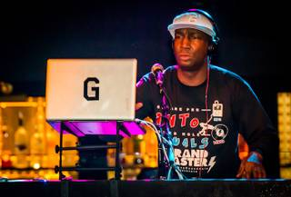 DJ Grandmaster Flash spins at Body English in the Hard Rock Hotel on Sunday, Jan. 6, 2013.