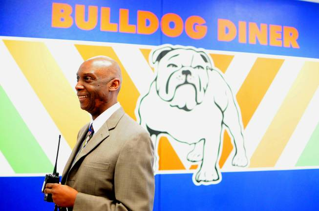 Variety School Principal Tyler Hall shows off his new campus, 2800 East Stewart Ave, on Monday, Jan. 7, 2013. The replacement school features kitchen facilities, a mock apartment and laundry facilities to teach life and vocational skills to special-needs students.