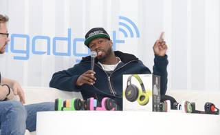 50 Cent attends the 2014 International Consumer Electronics Show on Wednesday, Jan. 8, 2014, in Las Vegas.
