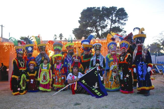 "The ""Comparza Morelense,"" a local Las Vegas cultural dance troupe, pose for a photo Tuesday, Jan. 7, 2013. The troupe has been invited to perform at President Obama's inauguration parade on January 21."