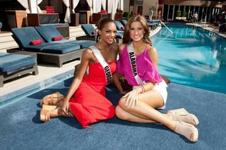 2012 Miss George Jasmyn Alexandria Wilkins and 2012 Miss Alabama USA Katherine Webb.