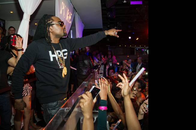Wale performs at Skullcandy's CES after-party in Pure at Caesars ...