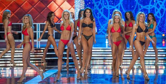 The first-night preliminaries of the 2013 Miss America Pageant at ...