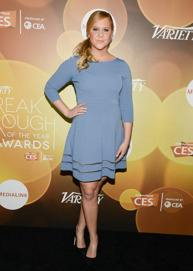 Honoree Amy Schumer arrives at the red carpet for Variety's Breakthrough of the Year Awards on Thursday, Jan. 9, 2014, at LVH in Las Vegas.