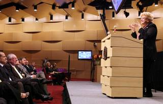 Mayor Carolyn Goodman delivers the State of the City address at Las Vegas City Hall on Thursday, January 10, 2013.