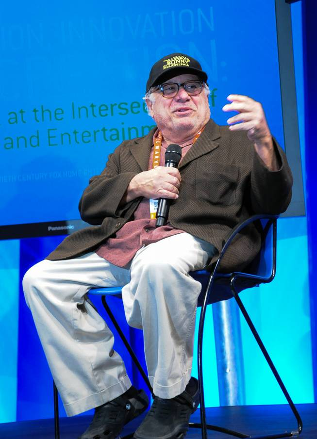 Danny DeVito at the 2013 International Consumer Electronics Show in Las Vegas on Wednesday, Jan. 9, 2013.