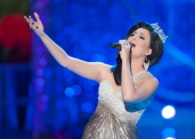 2012 Miss America Laura Kaeppeler performs during the second night ...