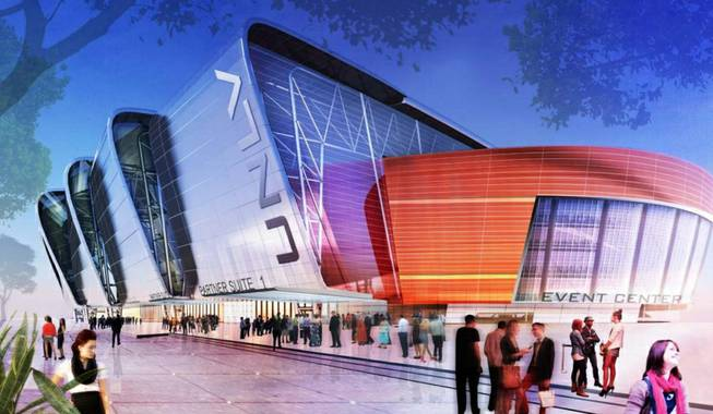 UNLV Now mega events center rendering.