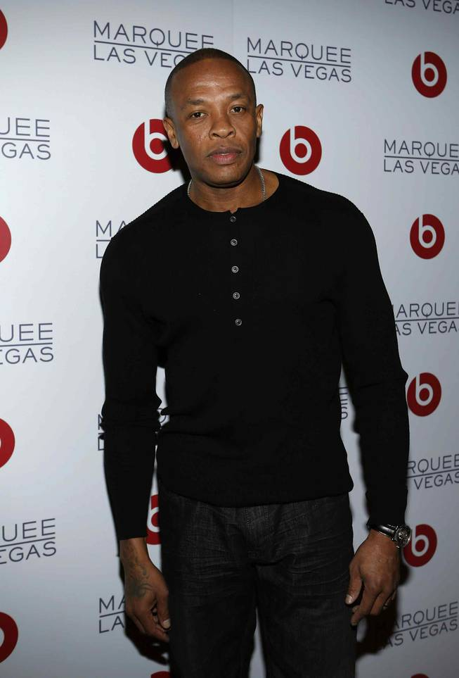 Dr. Dre at his Beats by Dre CES party at Marquee in The Cosmopolitan of Las Vegas on Thursday, Jan. 10, 2013.