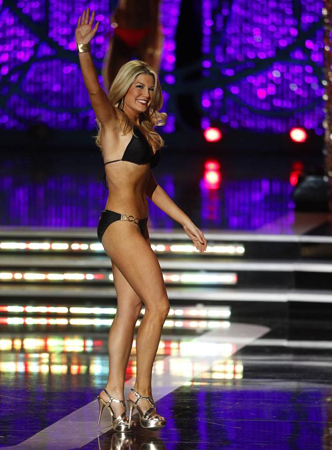Miss New York Mallory Hytes Hagan competes in the lifestyle and fitness portion of the 2013 Miss America Pageant in PH Live at Planet Hollywood on Saturday, Jan. 12, 2013. Hagan was later named 2013 Miss America.