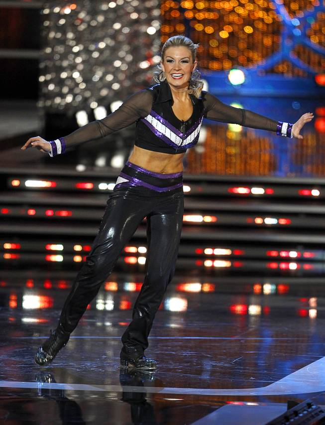 Miss New York Mallory Hytes Hagan tap dances during the talent portion of the 2013 Miss America Pageant in PH Live at Planet Hollywood on Saturday, Jan. 12, 2013. Hagan was later named 2013 Miss America.