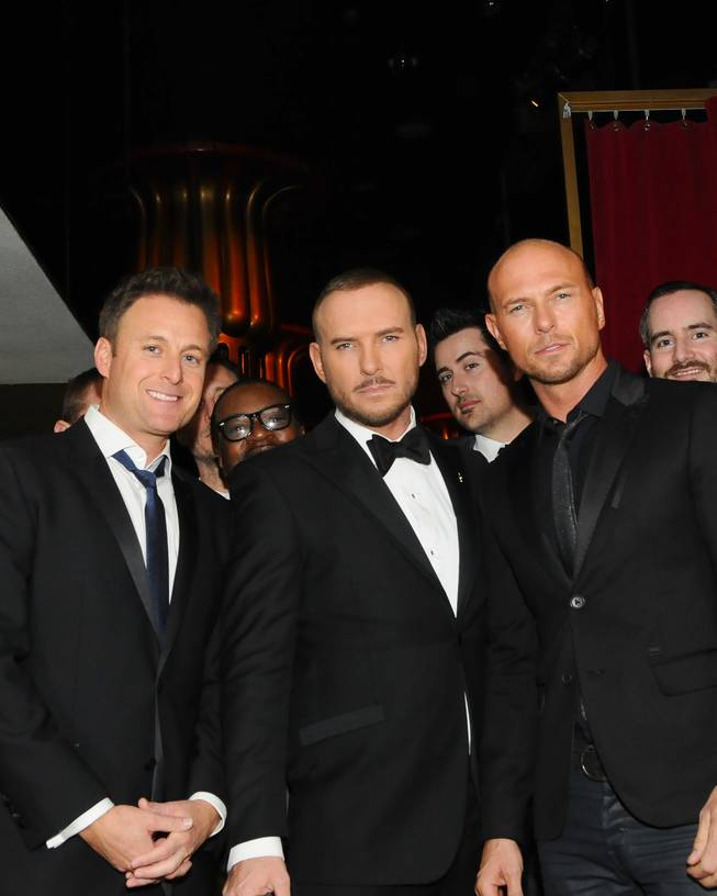 Chris Harrison, Matt Goss and his twin brother Luke Goss at Caesars Palace.