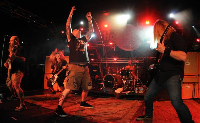 Down, with frontman Phil Anselmo (formerly of Pantera), performs at ...