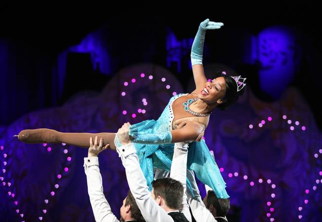 "Soniah Spence performs as Tiana from ""Princess and the Frog"" during ""Disney on Ice: Dare to Dream"" at the Thomas & Mack Center in Las Vegas on Wednesday, January 17, 2013."