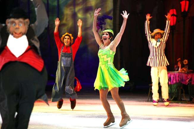 "Skaters perform in ""Disney on Ice: Dare to Dream"" at the Thomas & Mack Center in Las Vegas on Wednesday, January 17, 2013."