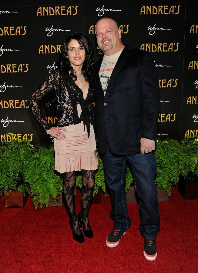 DeAnna Burditt and Rick Harrison arrive at the grand opening of Andrea's in Encore on Wednesday, Jan. 16, 2013.
