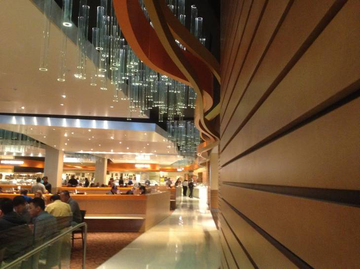 The entry of the Aria Buffet after renovations on Jan. 11, 2013.