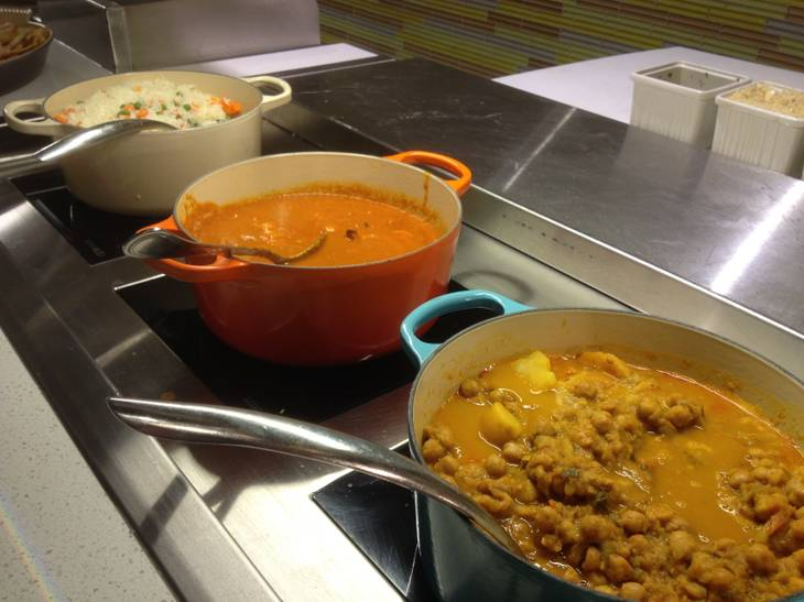 Indian food is among the offerings of the Aria Buffet after renovations on Jan. 11, 2013.