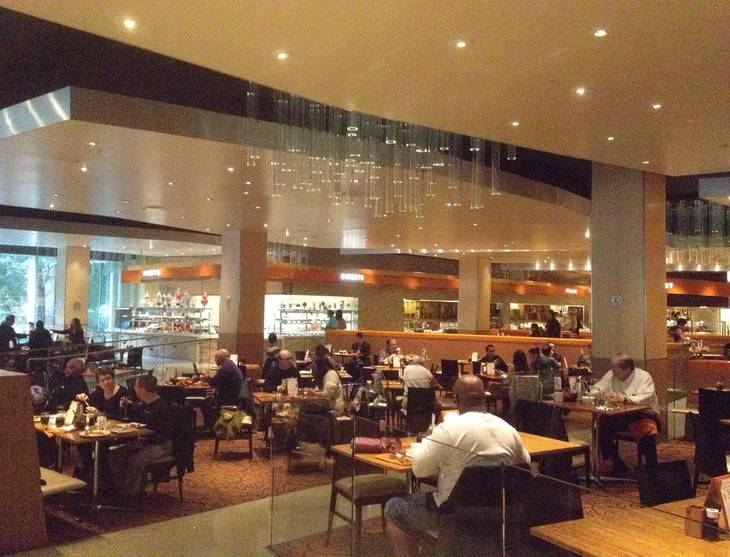 A more open floor plans is a main part of the design of the Aria Buffet after renovations on Jan. 11, 2013.