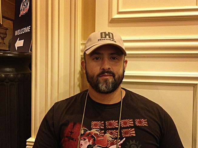 Raydel Ramirez, 34, came from Miami, Fla. to attend the 2013 SHOT Show at the Sands Convention Center.