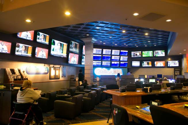 A look at the William Hill Sports Book at Terrible's, one of the many new additions the property has unveiled during their $7 million renovation, Wednesday, Jan. 16, 2013.